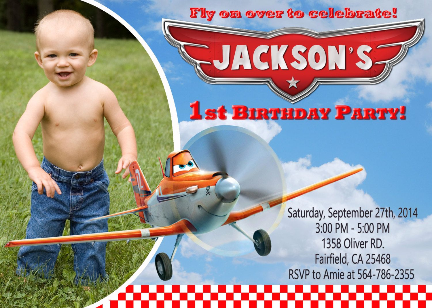 Disney Planes Birthday Party Invitation by PartyFunPrintable, $8.99 ...
