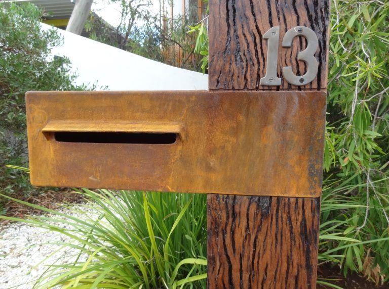 Corten Steel Letterboxes Geelong In 2020 Corten Steel Letter Box Design Corten