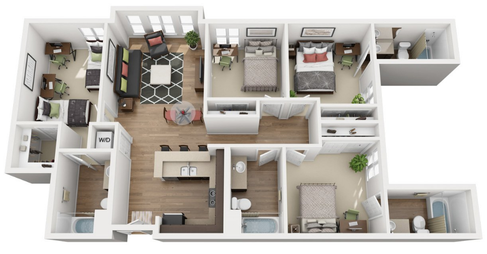 Sjsu Housing Welcome Home 27 North Apartment Homes Modern House Plans House Layouts House Blueprints