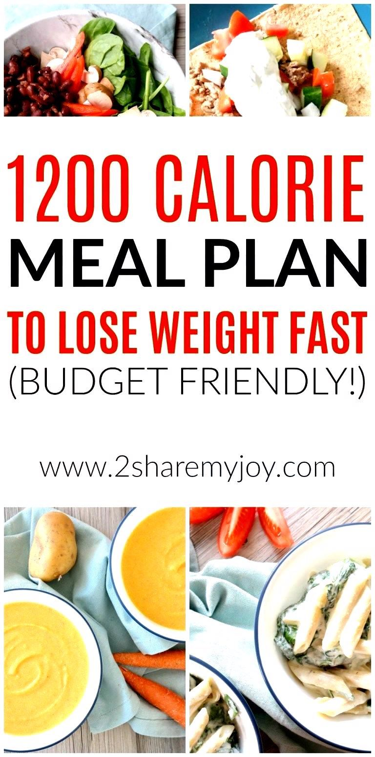 1200 Calorie Meal Plan to Lose Weight Fast on a Budget  1200 Calorie Meal Plan to Lose Weight Fast on a Budget  2SHAREMYJOY