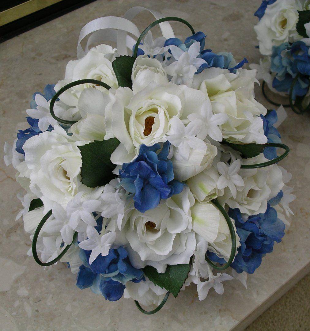 Bluesilkflowersforweddings Wedding Flowers Blue Silk Flowers