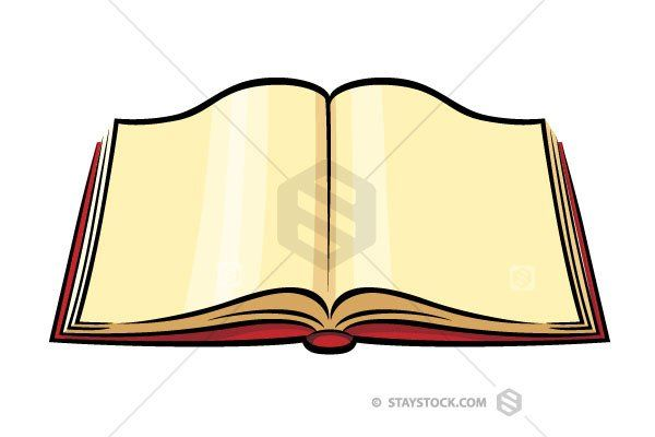 Open Book Color Clipart Open Book Open Book Drawing Cartoon Books