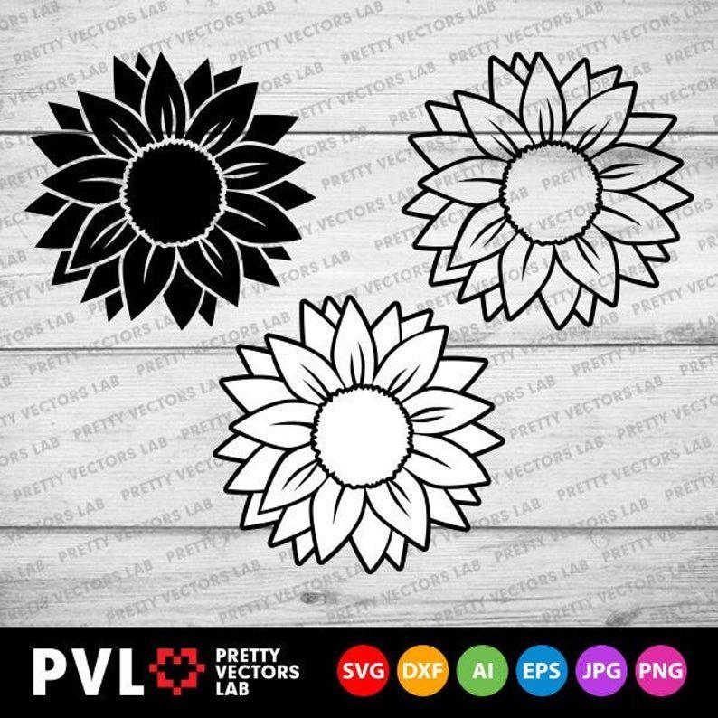 Download Sunflower Svg Flower Svg Sunflowers Clip Art Sunflower ...