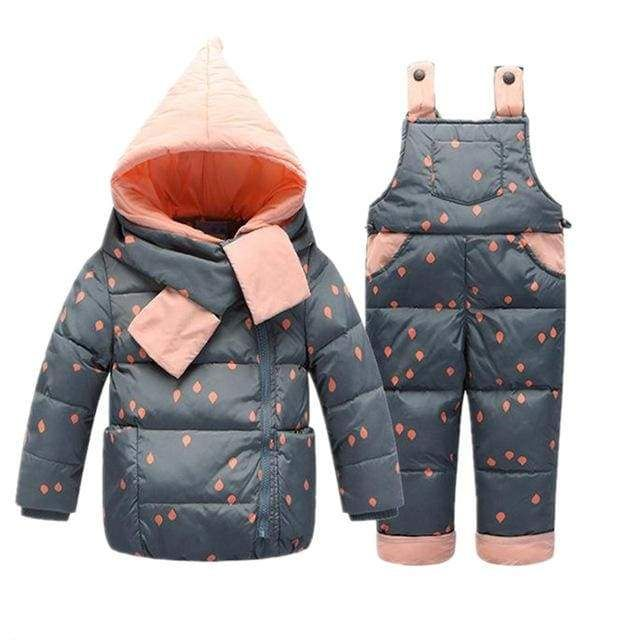 c094ac3ac 2 PC Children s Winter Duck Down Snowsuit Set