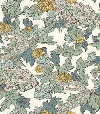 Ming Dragon Wallpaper From Dwell Studio Wallpaper Book By