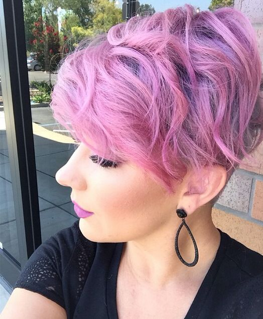 Hairstyles 2016 Hair Colors And Haircuts: Very Pretty Hair Color With Short Curly Hair Styles