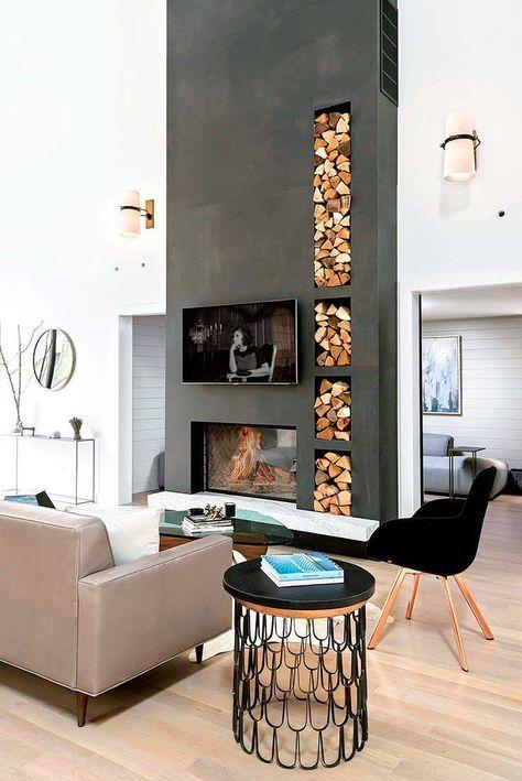 Bajo el cobijo de una #chimenea Aprende a decorar con chimeneas - chimeneas modernas