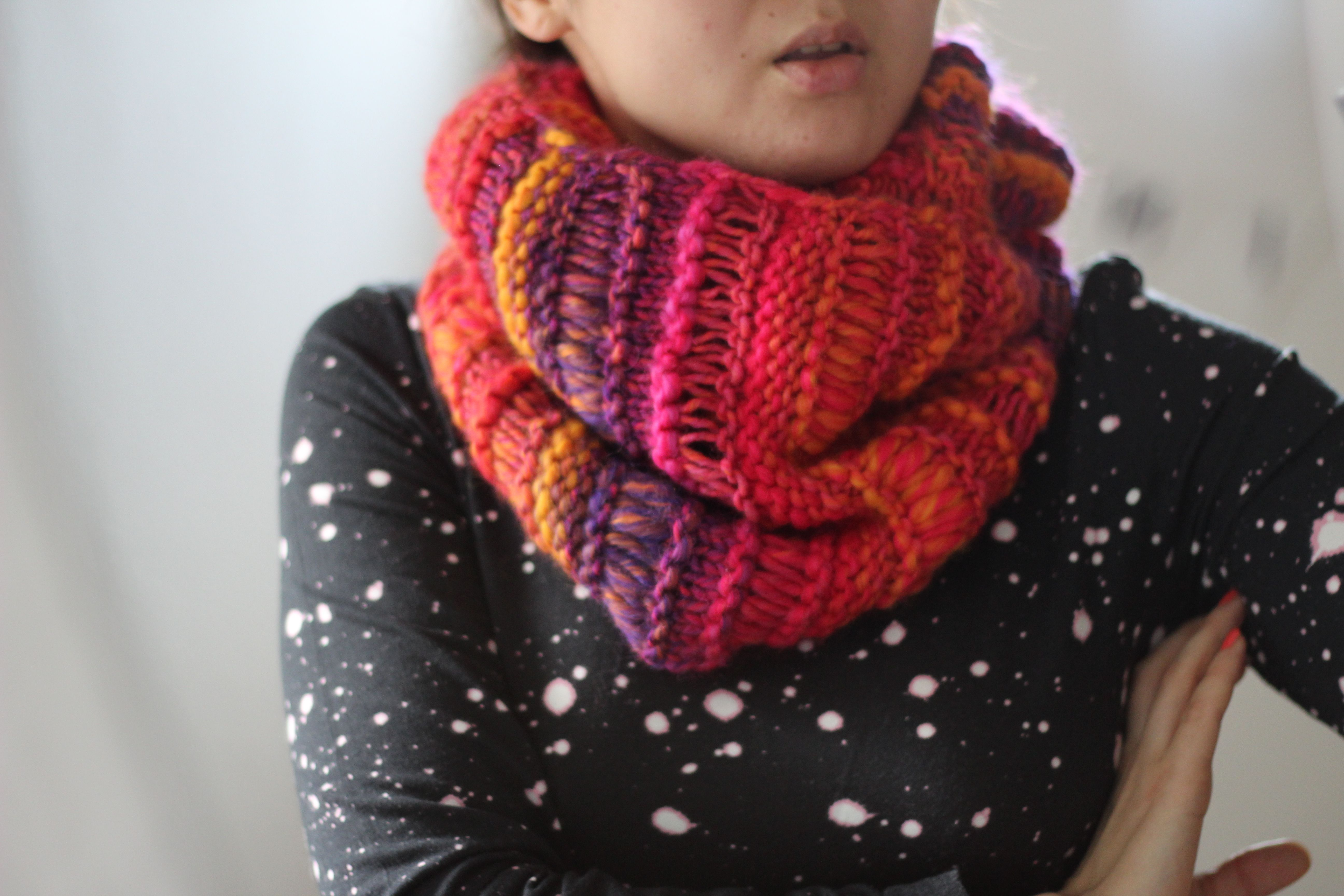 Drop stitch cowl hand knit infinity scarf chunky loop scarf 52 drop stitch cowl hand knit infinity scarf chunky loop scarf 52 bankloansurffo Choice Image