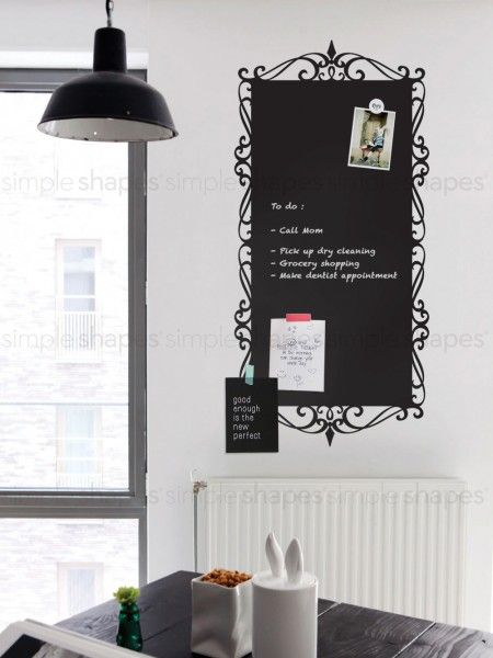 Decorative Chalkboard Wall Decal SimpleShapes DIYCrAFtS - Wall decals you can write on