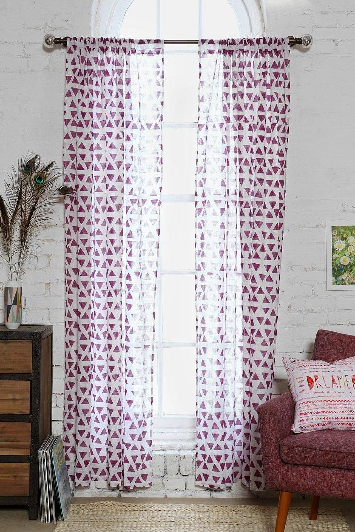 Magical Thinking Triangle Curtain Urban Outfitters Curtains Curtains Living Room Windows