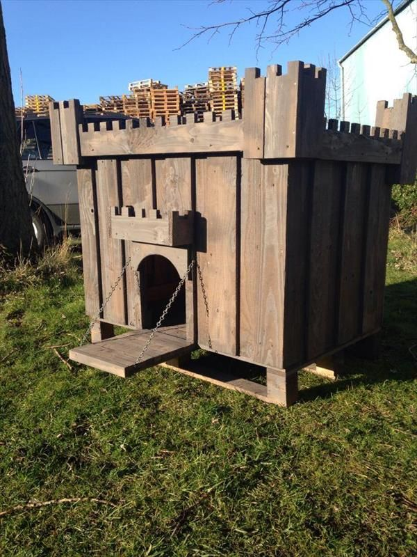 See here the ideas of DIY Dog House Plans made from Pallets. It is a small  shelter for a dog made out of pallets wood. Pallet Dog House Ideas is a  small ...