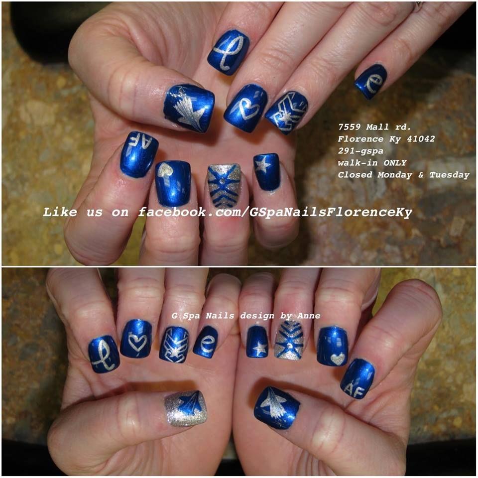 air force nail art designs Nails designs Military