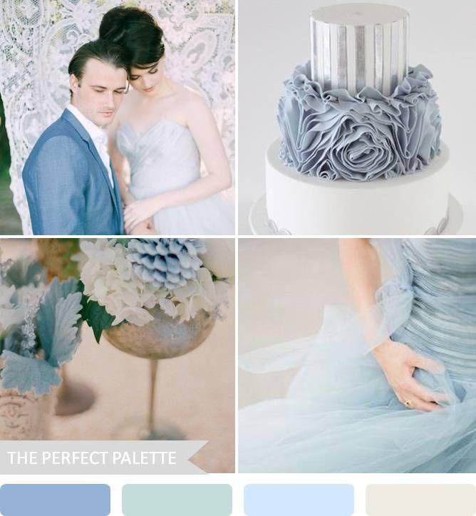 romantic blues}: shades of blue + silver | Romantic, Dusty blue ...