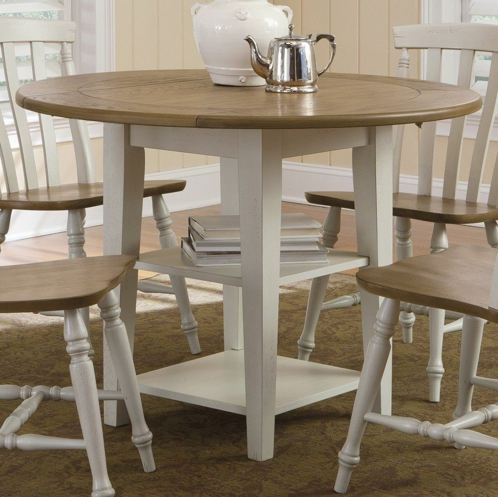 round kitchen table sets with leaf