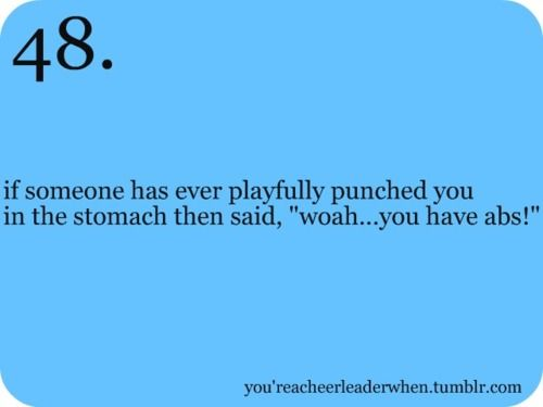 I have had this happen to me thanks to cheerleading haha
