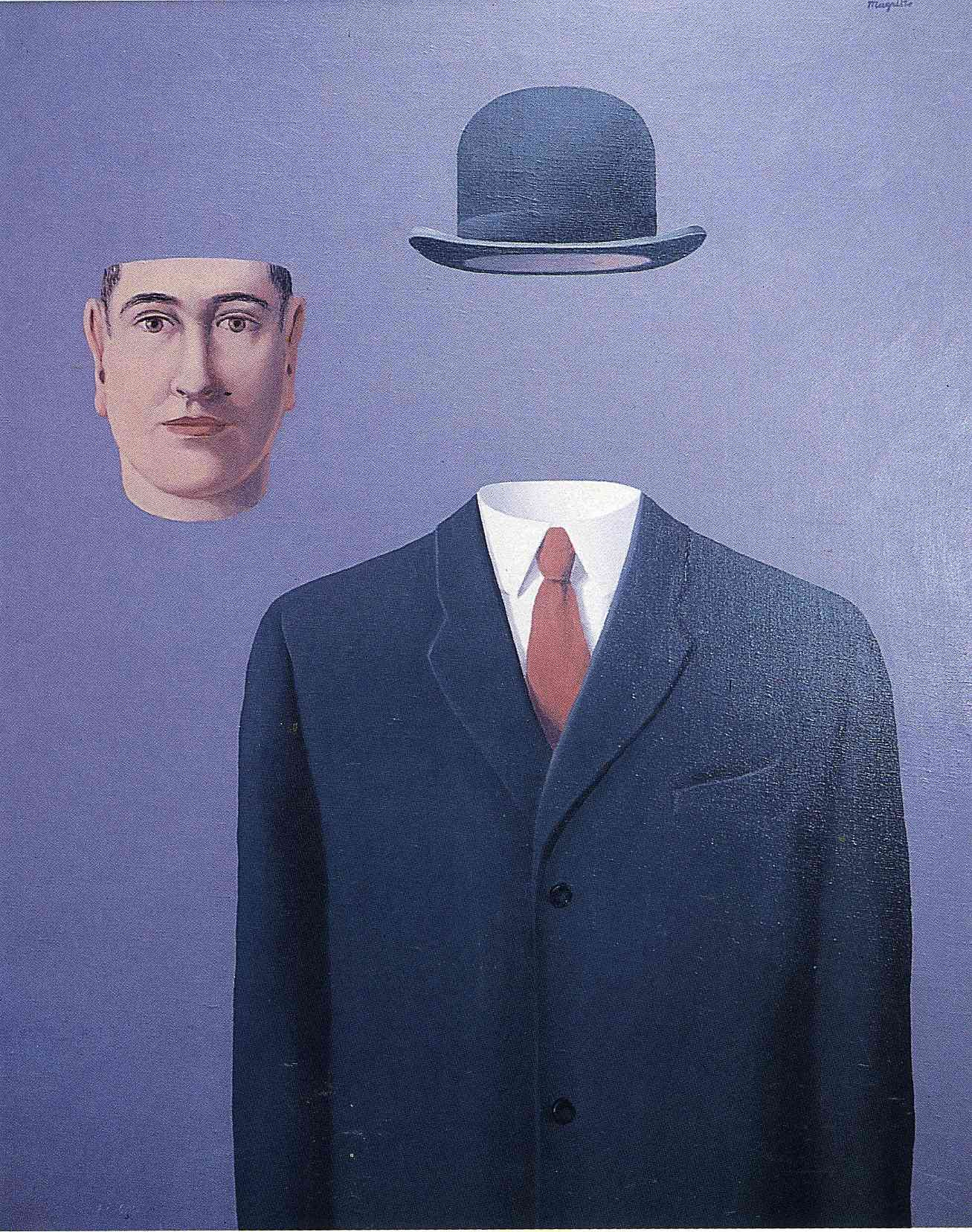 The Pilgrim - Rene Magritte - WikiPaintings. www.wikipaintings.org ...