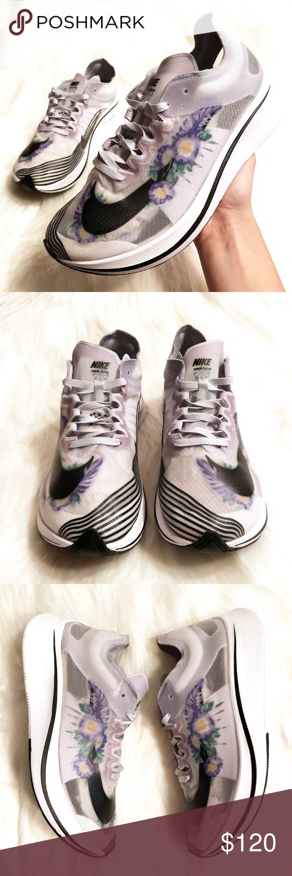 Girar en descubierto Bigote Rápido  NEW! Nike Zoom Fly SP Pure Platinum Floral Sneaker   Floral sneakers,  Sneakers, Floral nikes