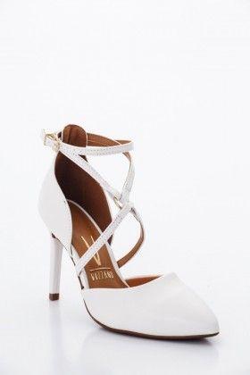 Fehér Vizzano Női Magassarkú cipő  c404cff856