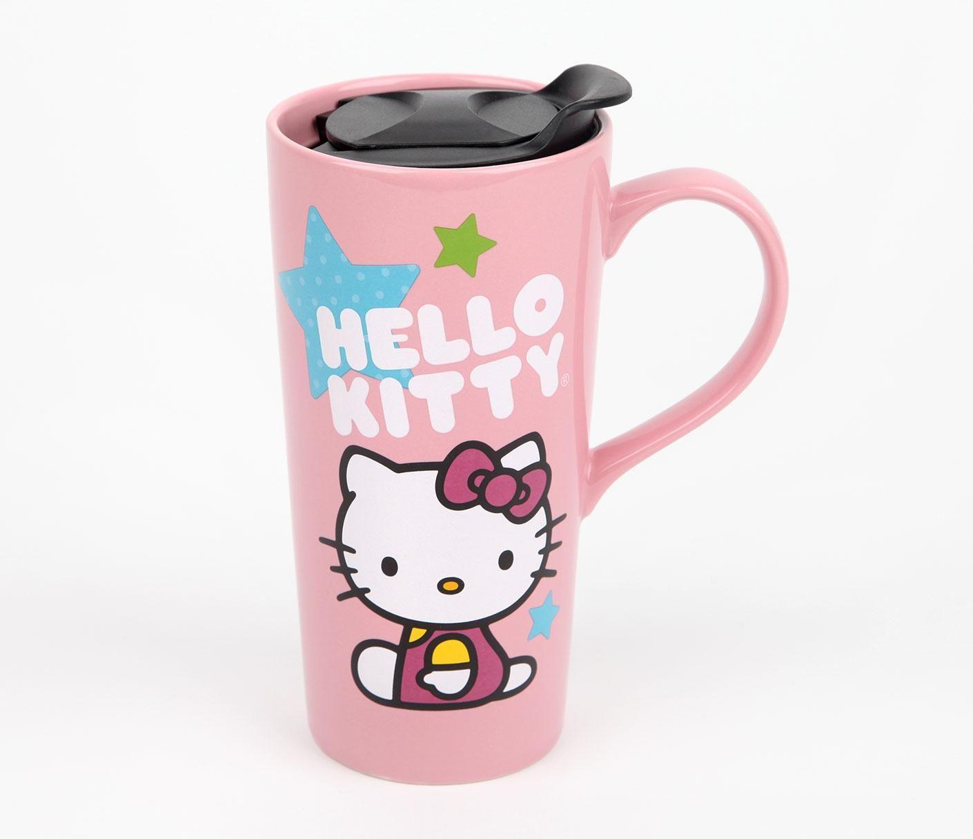 Hello Kitty 20oz Ceramic Travel Mug: Cosmic | Coffee & Tea Things ...