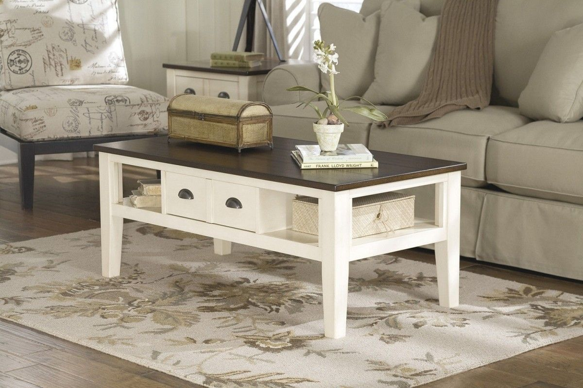 - Antique White Coffee Coffee Table, Ashley Furniture, Furniture