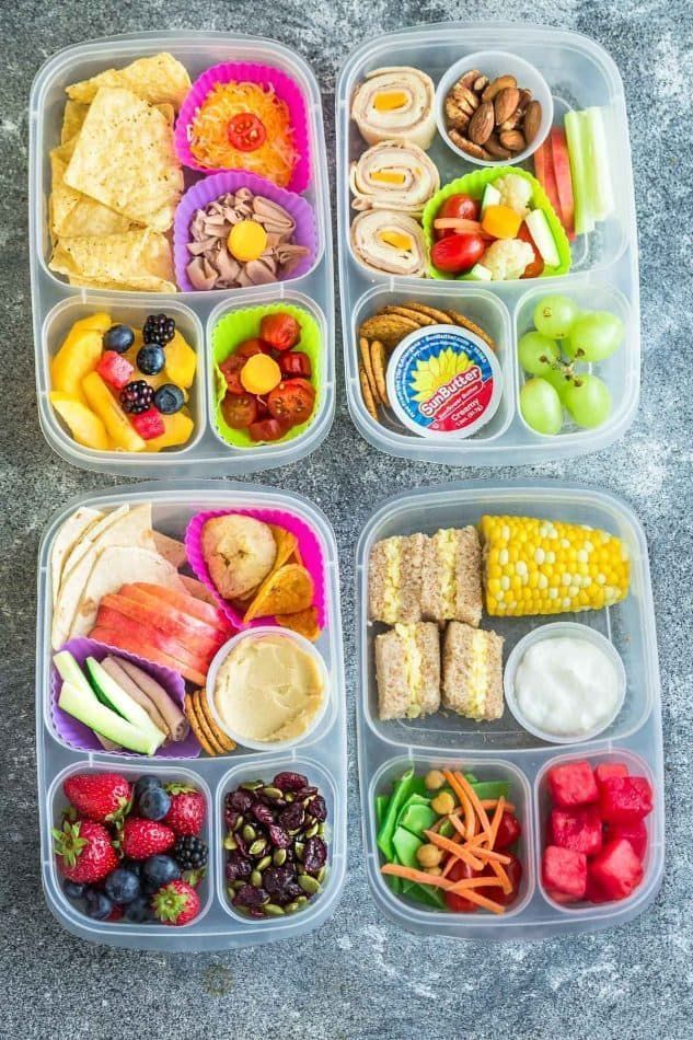 8 healthy and delicious lunches for school. Without nuts, without milk ... -