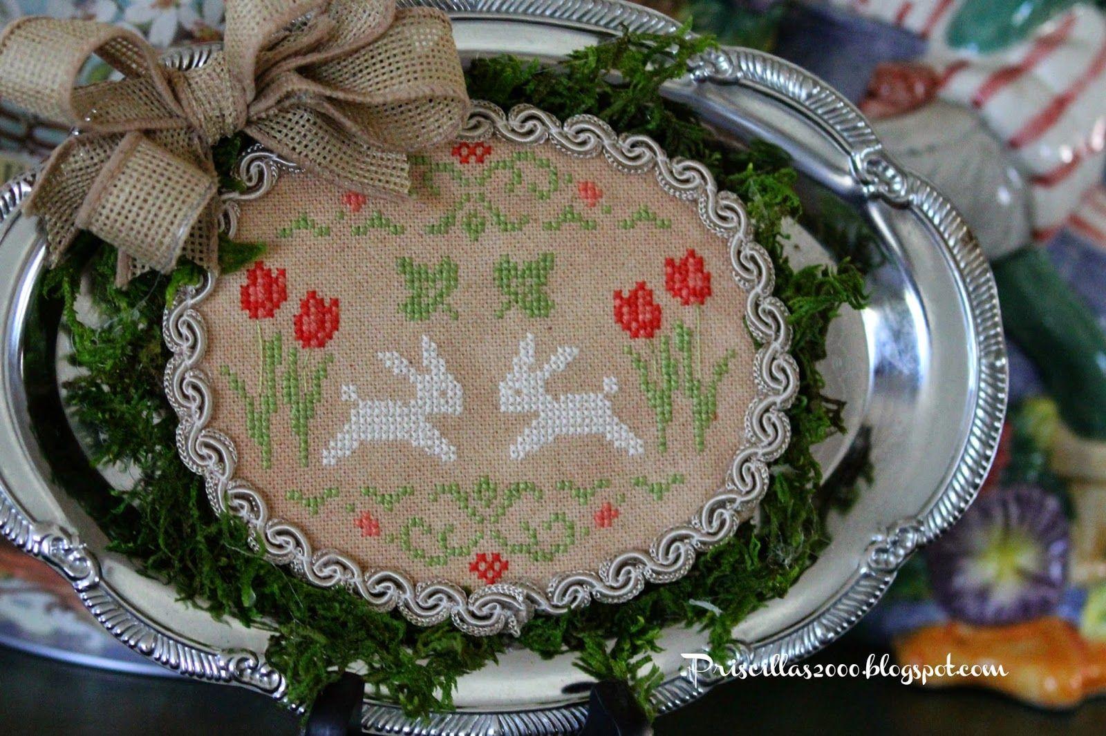 Counted Cross Stitch Kit Bunnies  art 421