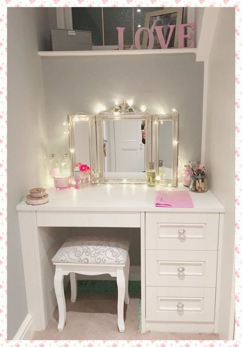 Dressing Table Idea White Dressing Table With Crystal Handles