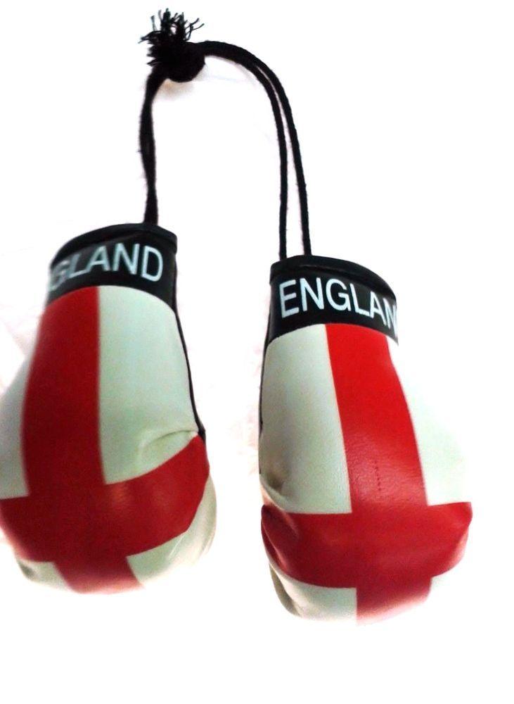 Mini Boxing Gloves Mirror Hanging Car Flag Decoration