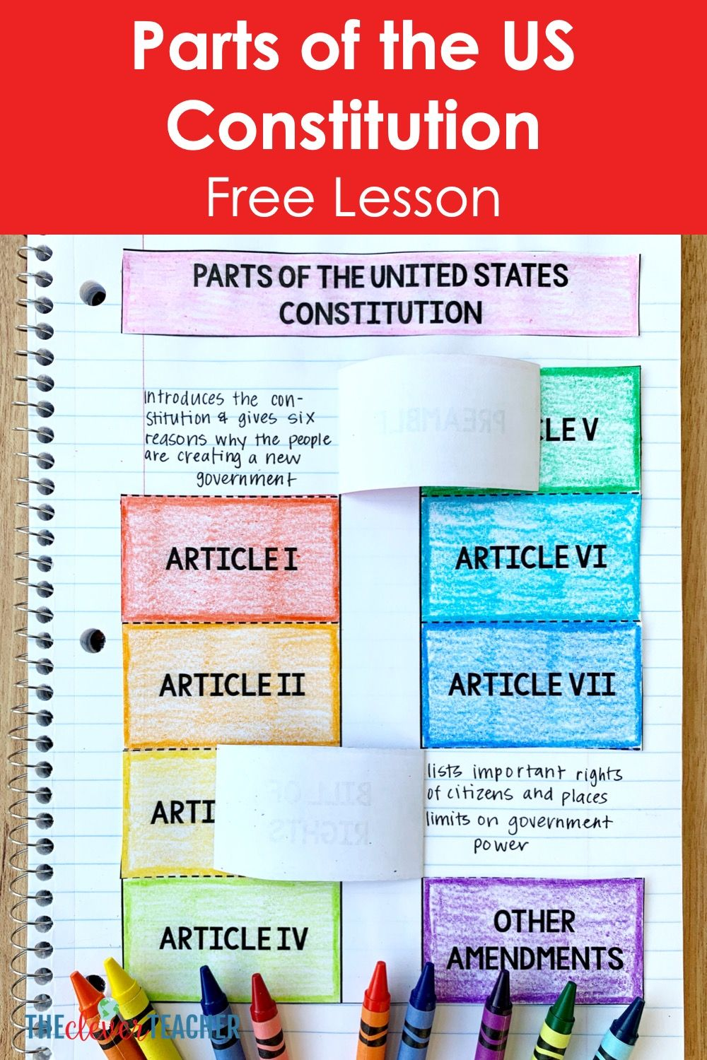 Photo of Free Parts of the US Constitution lesson