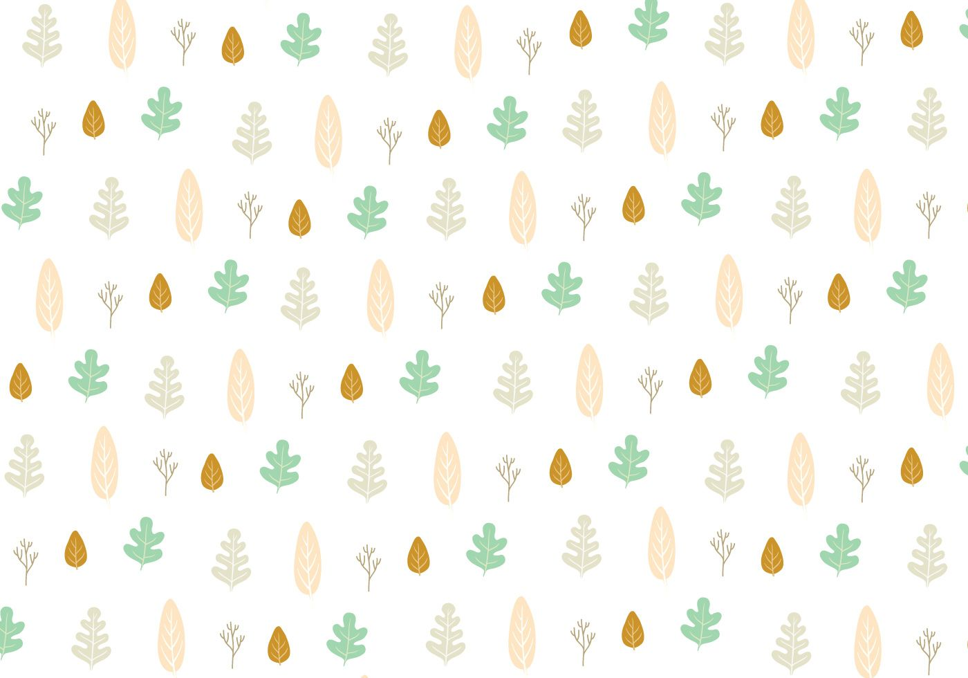 Seamless background with leaf pattern which can be used