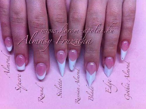 Names of each nail shape | ~ PICTURE GRAPHS ~ | Pinterest | Nail ...
