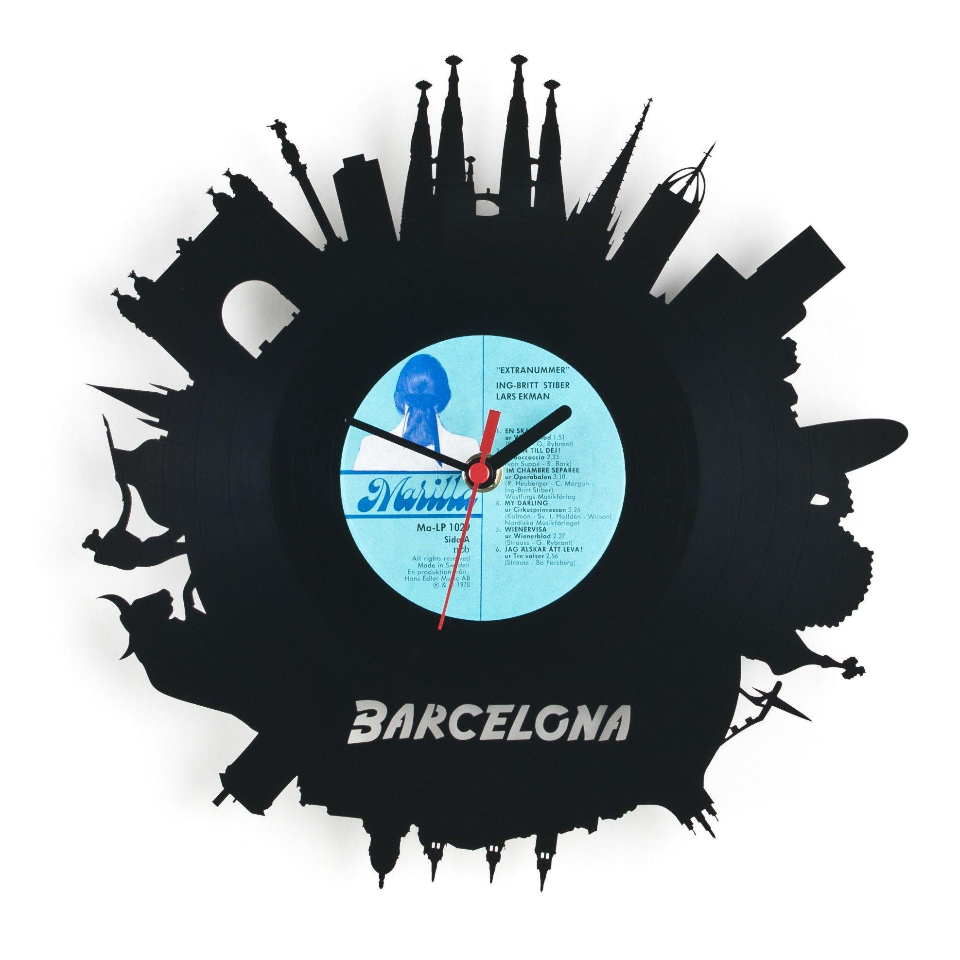 Vinyl Wall Clock #Barcelona #Merchandise #Souvenir   Perfect For All Barca  Fans!