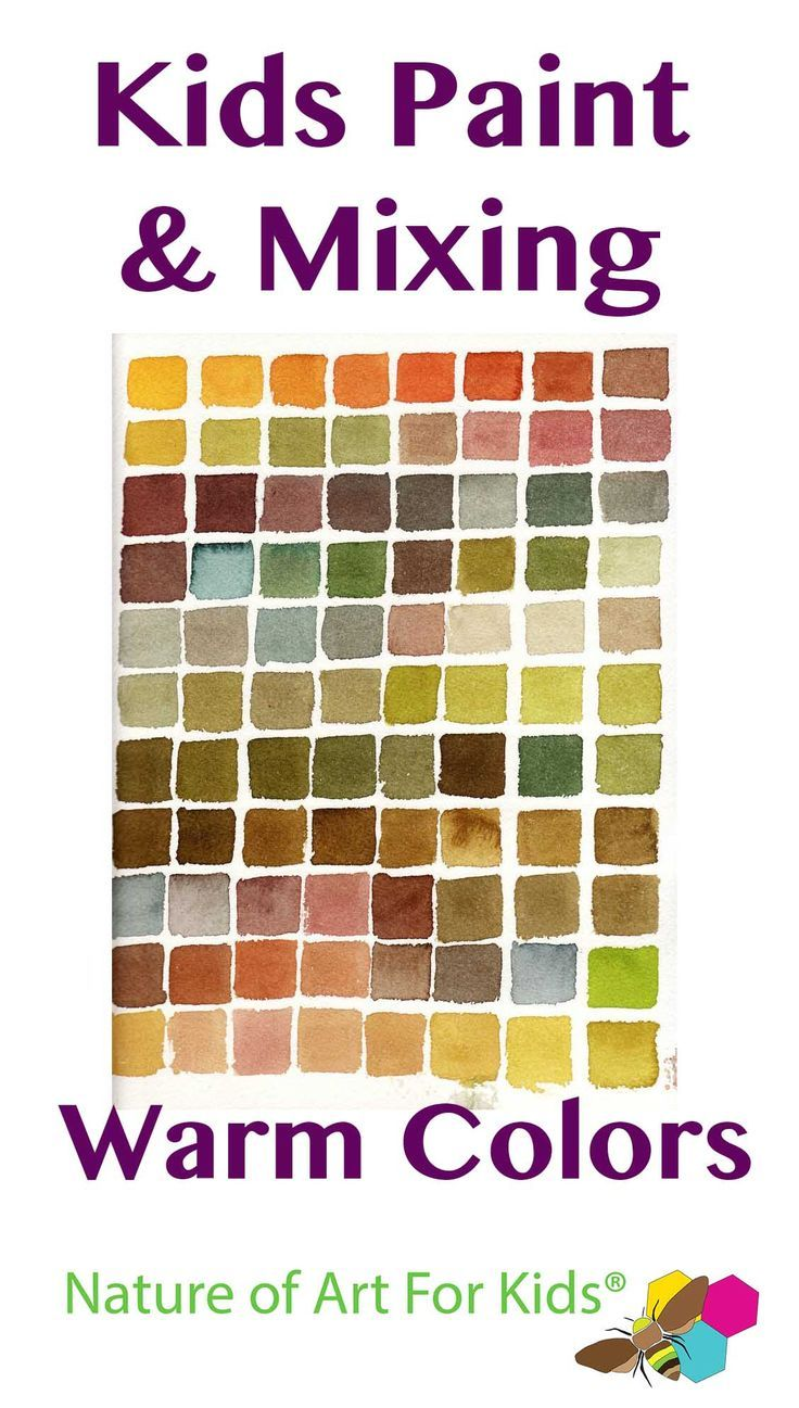 mixing paint into warm autumn colors painting lesson for kids kids painting mixing warm - Colour Painting For Kids
