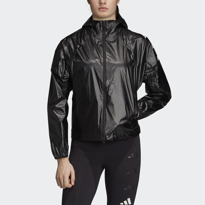 adidas Athletics Pack W.N.D. Jacket Black Womens | Jackets