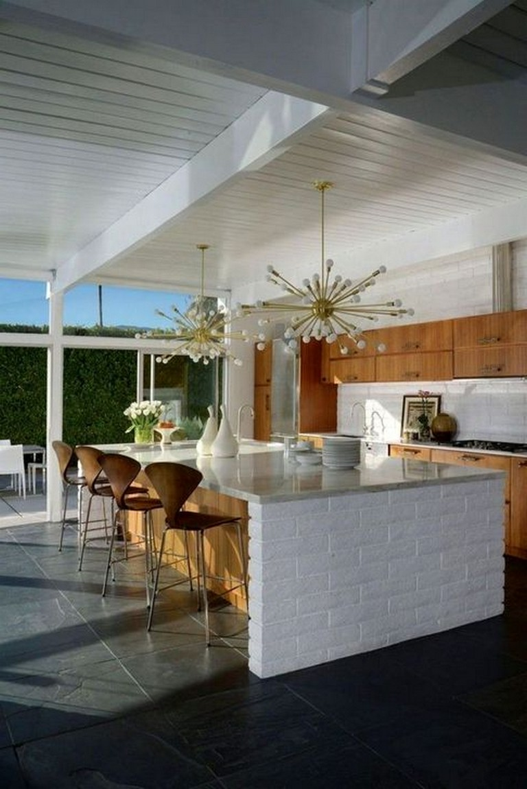 40 fashionable mid century kitchen design ideas for