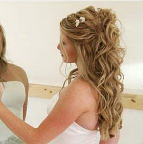 Peinados Para Novia Semirecogidos Bodas Cabello Pelo Rizado Y