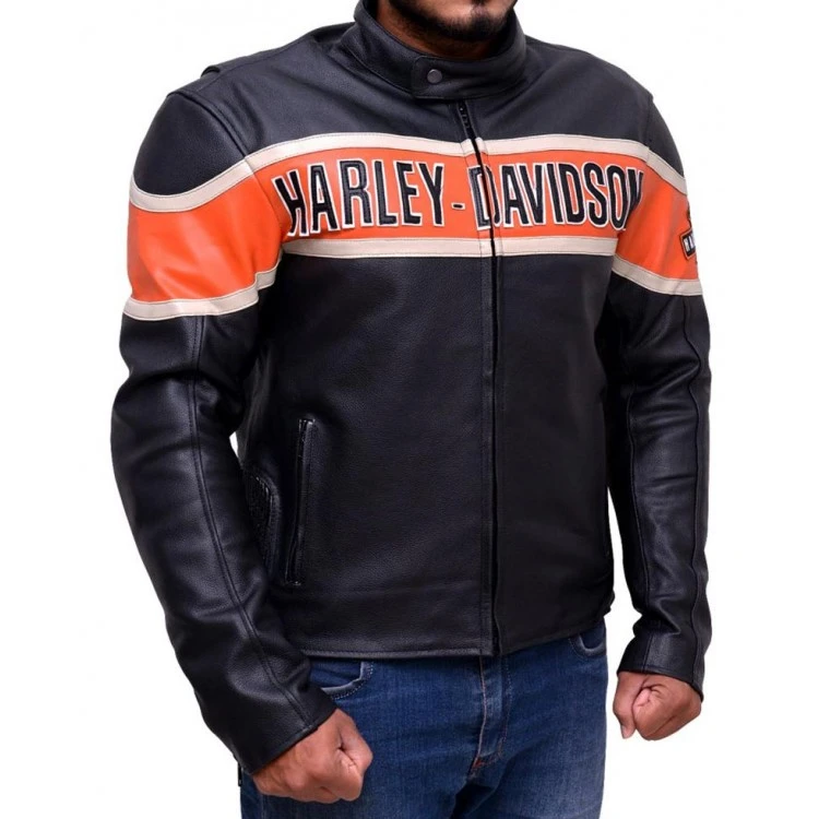HARLEY DAVIDSON VICTORY LANE COW HIDE LEATHER JACKET