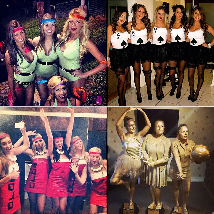 60 creative girlfriend group costumes girl group halloween - Homemade Halloween Costumes College Girls