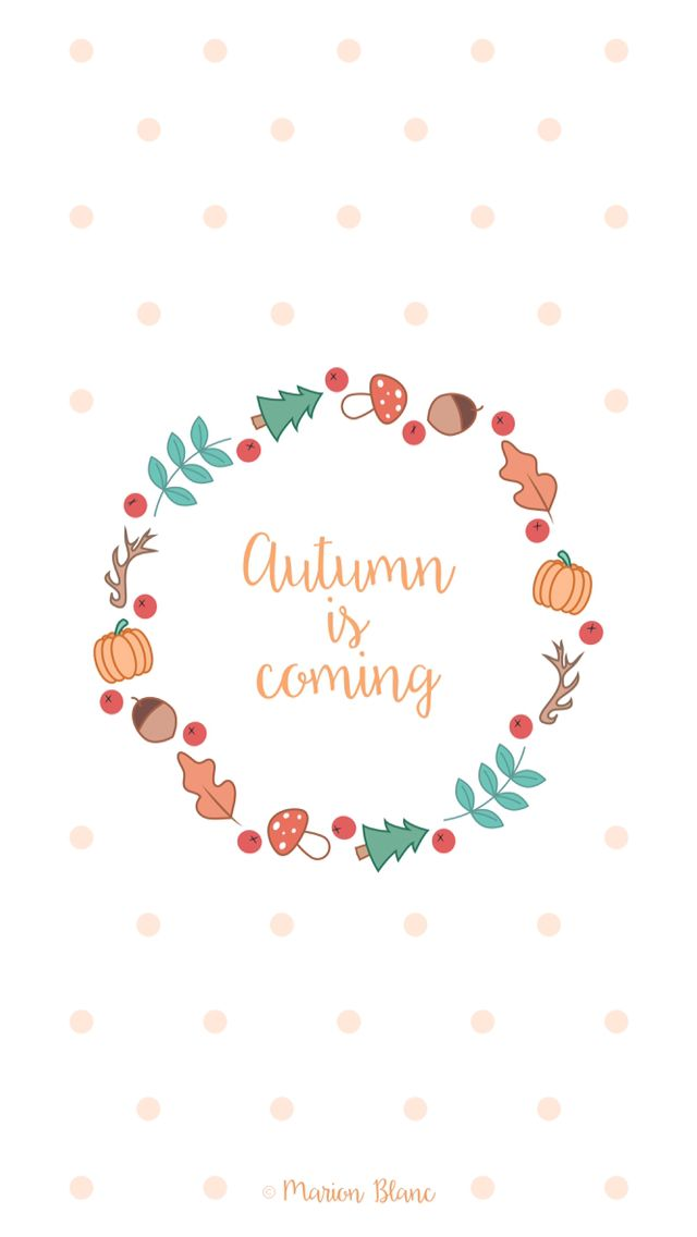 Cute Lock Screen Wallpapers For Iphone Autumn Illustration Vector 169 Marion Blanc Iphone