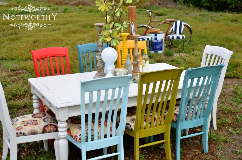 Multiple Colored Dining Chairs Colorful Dining Set Colorful Chairs Farmhouse Table Colored Dining Chairs Rustic Dining Chairs Dining Table Chairs