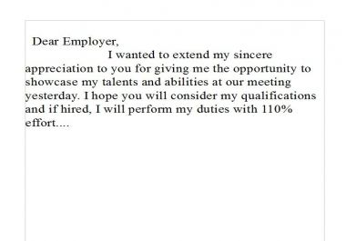 Follow Letter Potential Employer Apology Sample Thank You Download