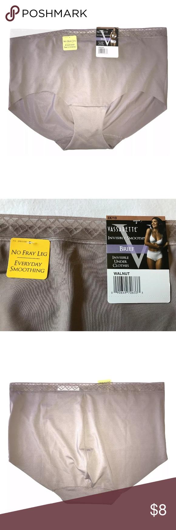 7a5e5c492cb1 Vassarette Invisibly Smooth Nylon Brief Panty Vassarette Invisibly Smooth  Nylon Stretch Brief Panty SIZE 3X/