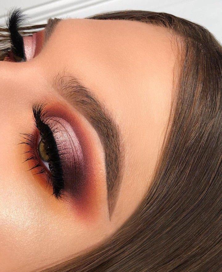 Warm toned eye makeup