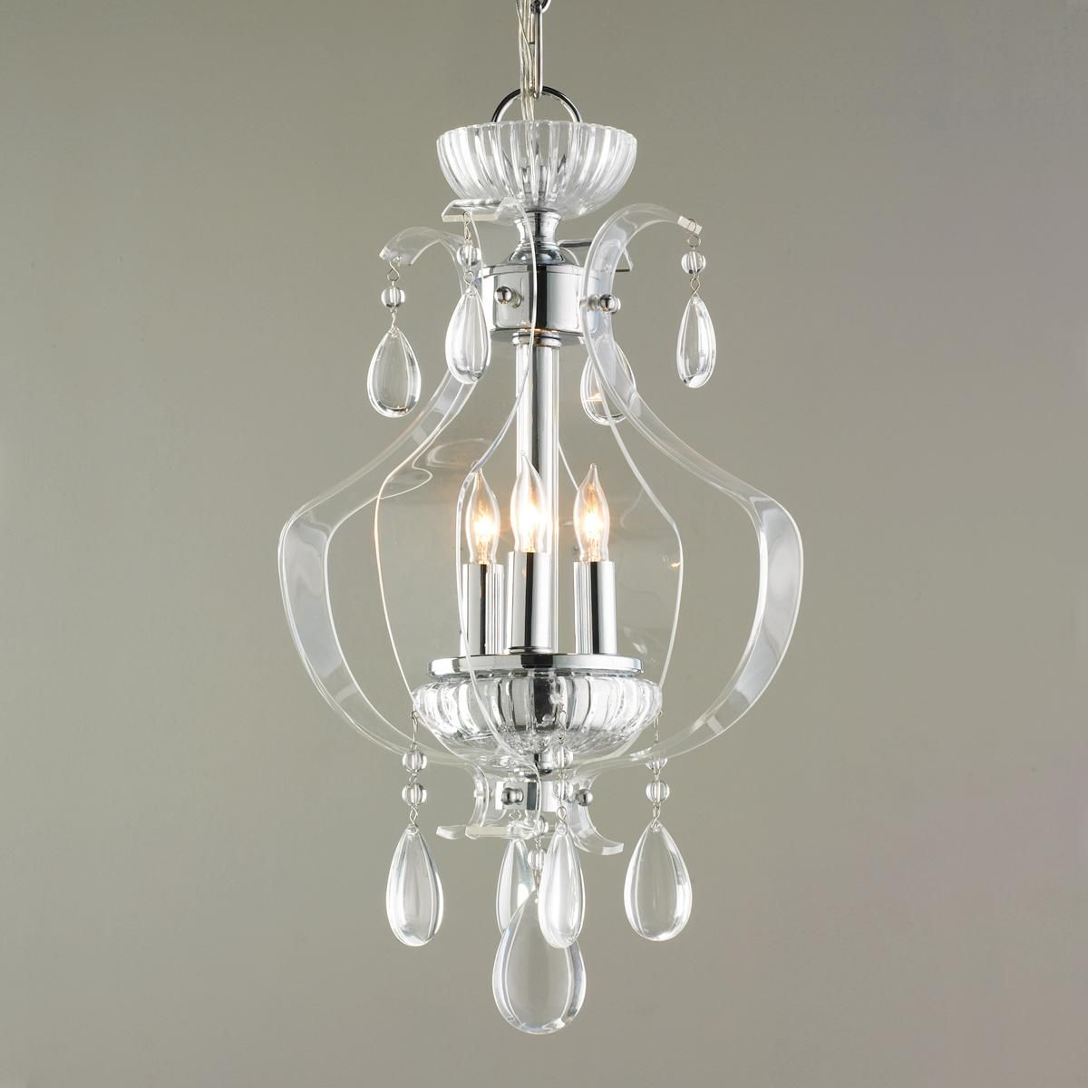 Small Chandeliers For Dining Room: Crystal And Acrylic Mini Chandelier