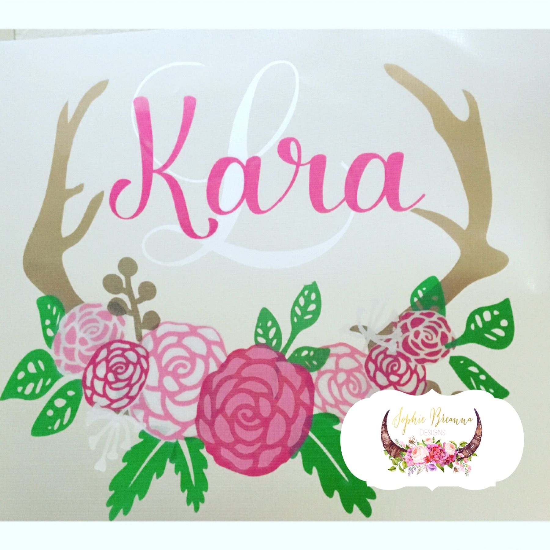 Floral Monogram Decal Shop Sophie Breanna Designs On Etsy - Custom vinyl decals etsy