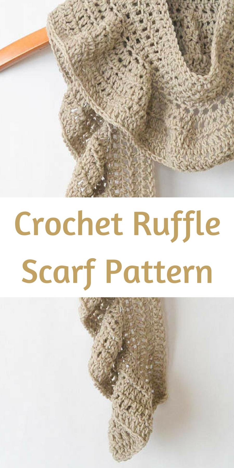 Lovely little ruffle crochet scarf pattern - the ruffle adds a ...