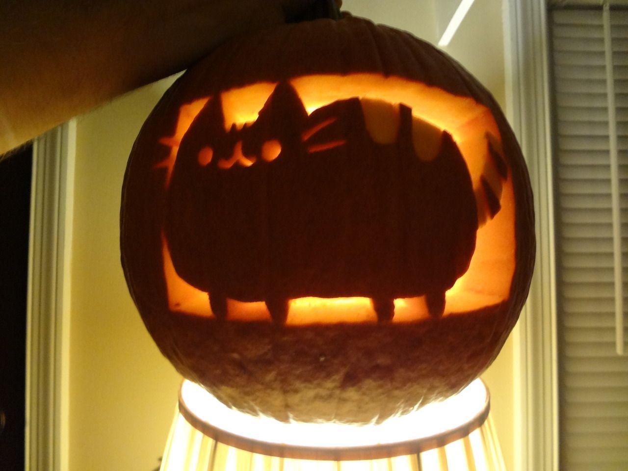 pusheen pumpkin! | Pumpkin carving, Pumpkin carving ...Jack O Lantern Patterns Cat