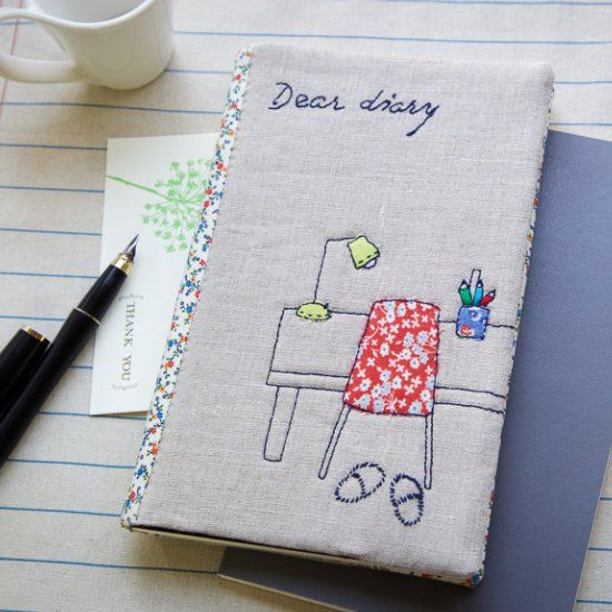 Learn how to make personal diary cover. Photo tutorial and more ...