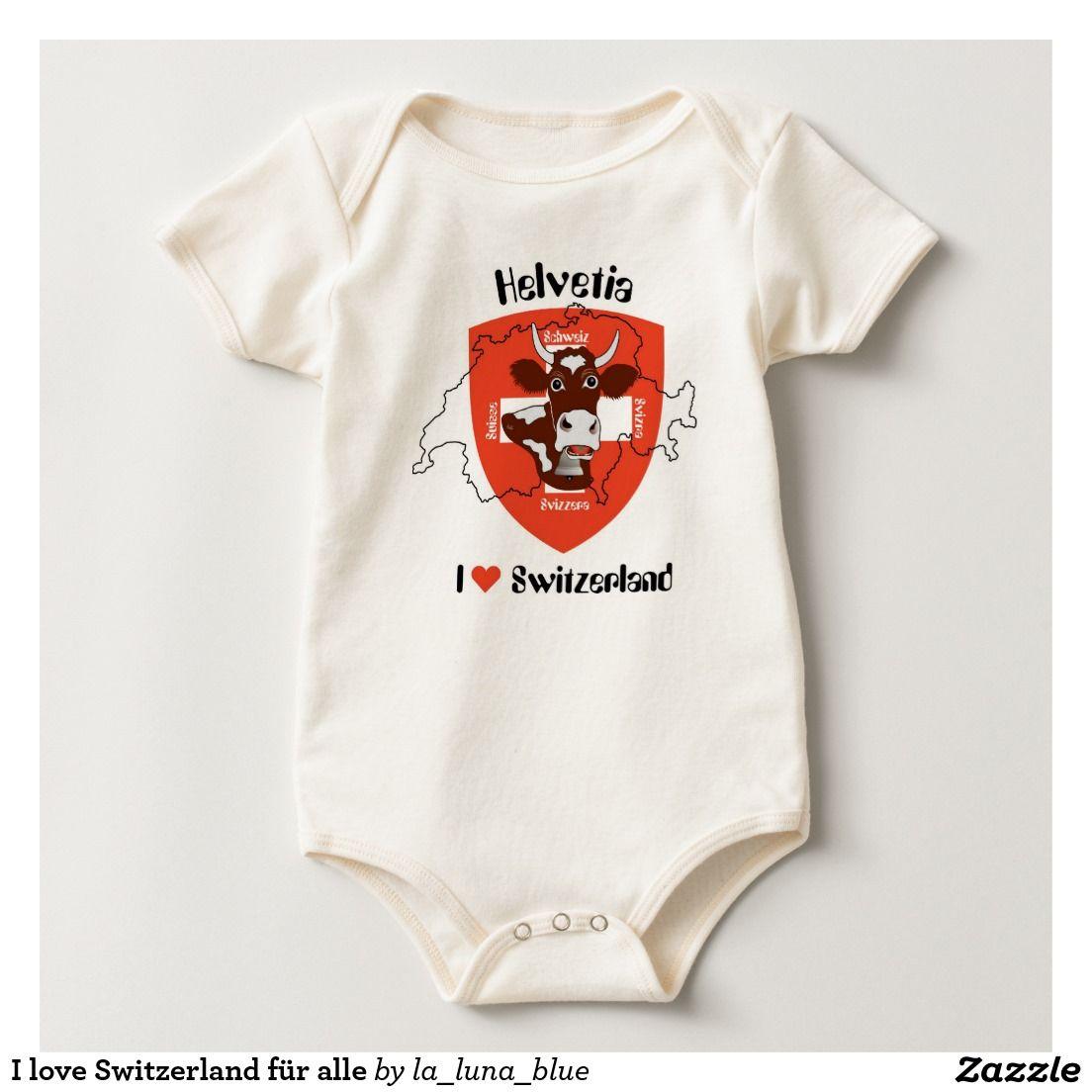 I love Switzerland für alle Baby Strampler