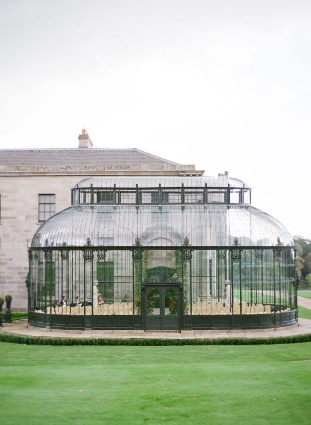 interesting wedding venues ireland%0A How u    s this for a reception  a country estate garden room  Jo and Andrew   Ireland Destination Wedding  Part Four  KT Merry Photography